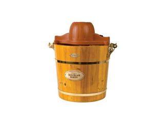 Nostalgia Electrics ICMW 400 4 Quart Wooden Bucket Electric Ice Cream Maker