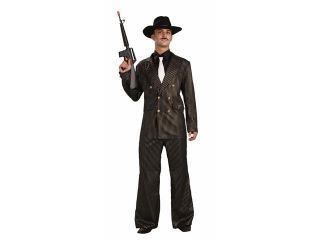 Gangster Gold Roaring 20's Capone Costume Adult Standard