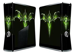 Bundle Monster Vinyl Skin Sticker for Xbox 360 S Slim   Green Dagger
