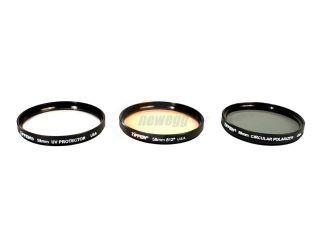 TIFFEN 58TPK1 58mm Filter Kit   UV, 812 Color Warming Filter, Circular Polarizer