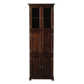 Home Decorators Collection Hampton Bay 25 in. W Linen Cabinet in Sequoia 7784660960