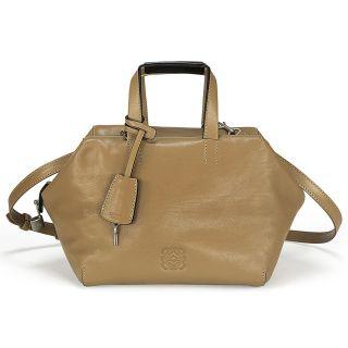product l o loewe origami cubo 18 mink light leather handbag 359 22
