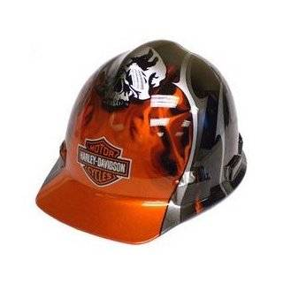 Harley Davidson   Safety Wear H D Flames Hard Hat, Black