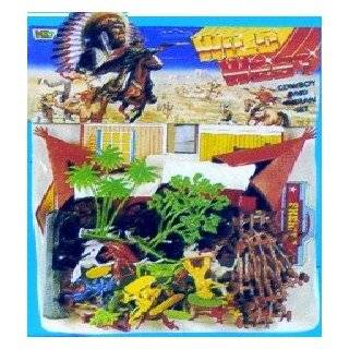 PLASTIC TOY SOLDIER WESTERN STORY COWBOYS AND INDIANS PLAYSET