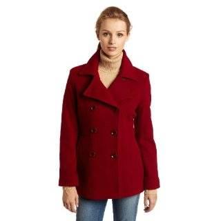 Ak Anne Klein Womens Wool Double breasted Coat