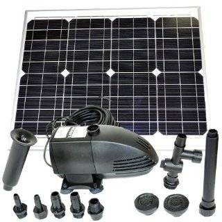 20W Solar Panel Water Pump Battery Timer LEDs Light Combo